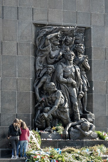Western side Monument to the 70th Anniversary of the Warsaw Ghetto Uprising in Warsaw photo