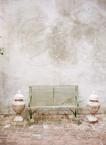 Antique bench New Orleans photo