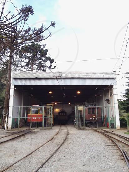 trains at train station photo