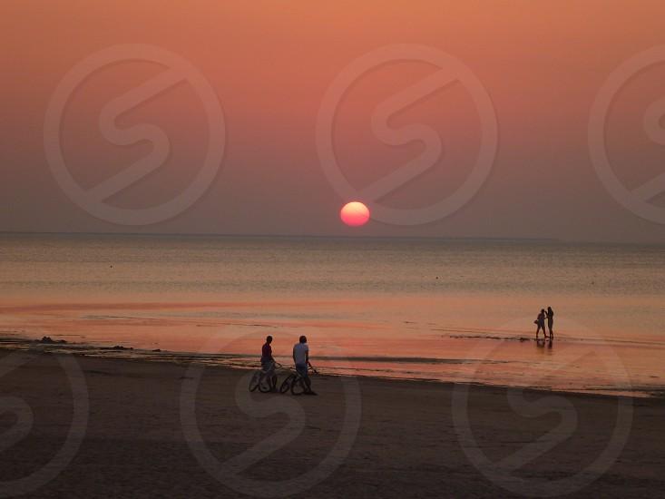 Sunset beach Baltic photo