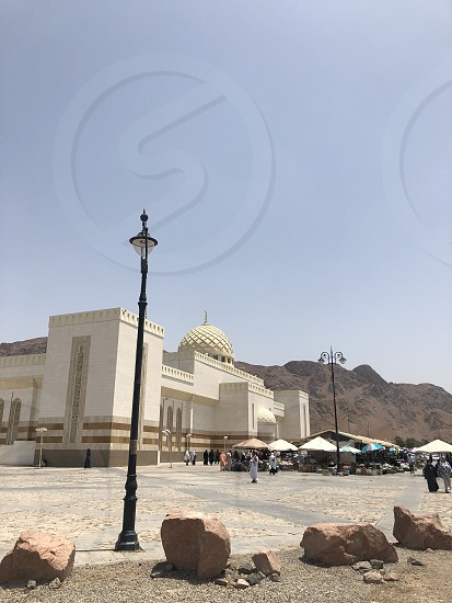 Mosque. Masjid Quba. Madinah. Saudi Arabia. Islamic landmarks. Photo taken on 04.28.2019. Quba Mosque to the south of Madinah is the second largest and prestigious mosque in the city after the Prophet's Mosque.  photo