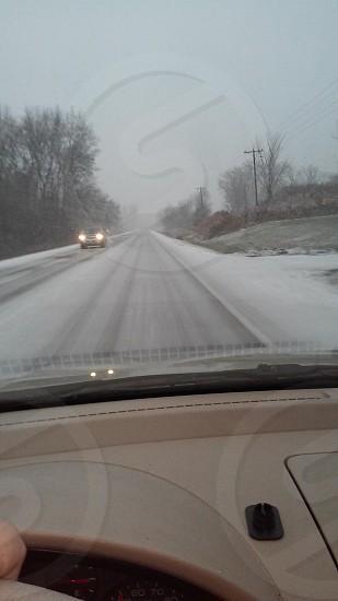 winter roads of Wisconsin photo