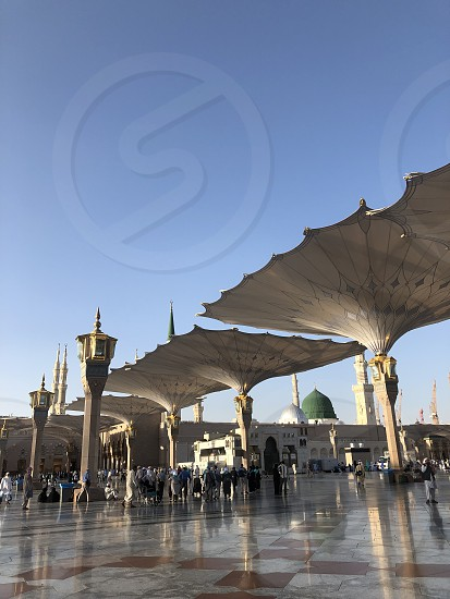 MEDINA Madinah. Saudia Arabia. Prophet Muhammad Mosque. Al-Masjid An-Nabavi. Great Islamic mosque. Photo taken on 04.28.2019. photo