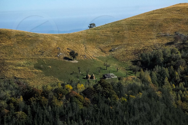 Sheepfold - Cindrel mountains Paltinis area Sibiu County Romania 1400m photo