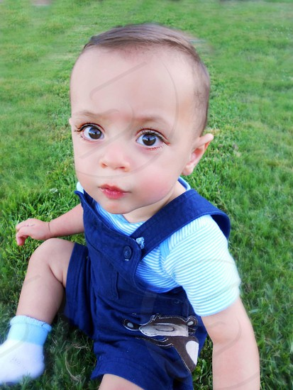 Baby with big eyes photo