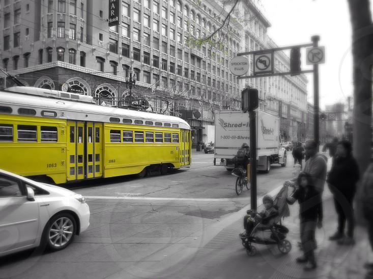 yellow bus photography photo