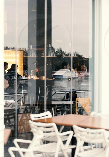 Wiev of a modern bar-resturant photo