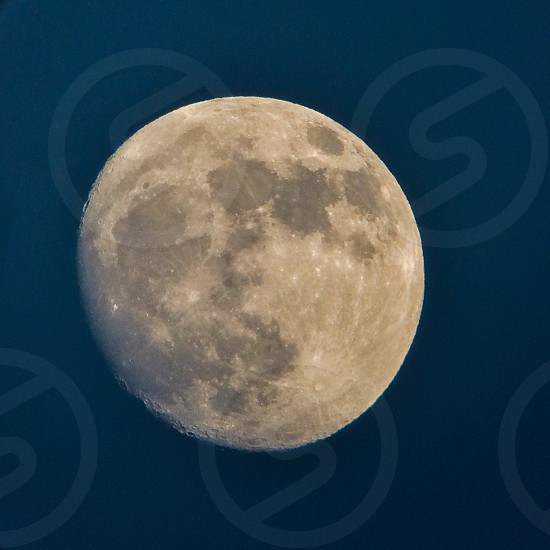 wanning gibbous moon  photo