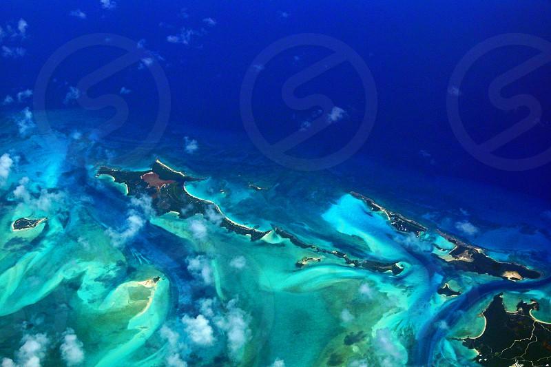 blue and black island photo