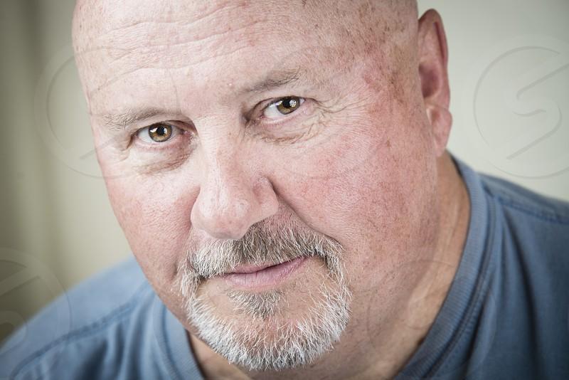 Man face portrait looking color photo
