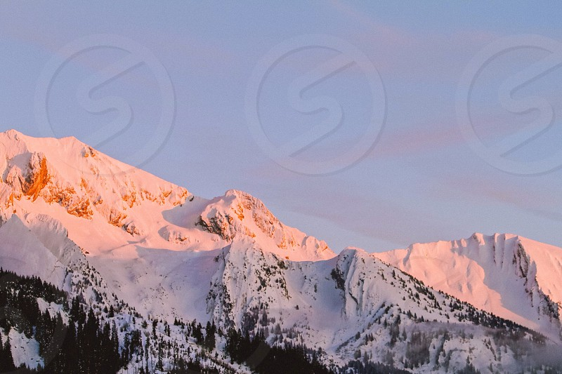 Mountains Alps France sunset  photo
