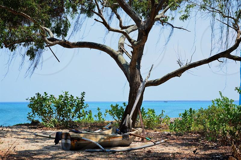 Outrigger ready for the ocean - Bali photo