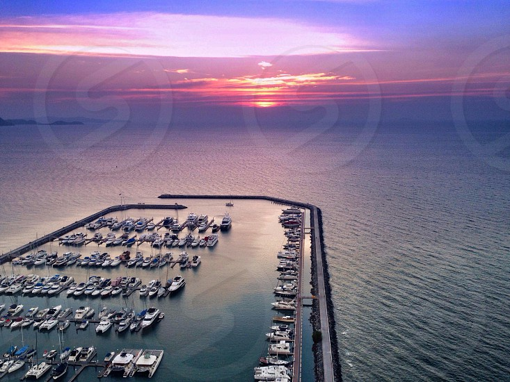 #sunset over a #marina photo