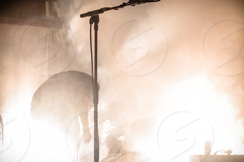 A smoke-filled stage.  photo
