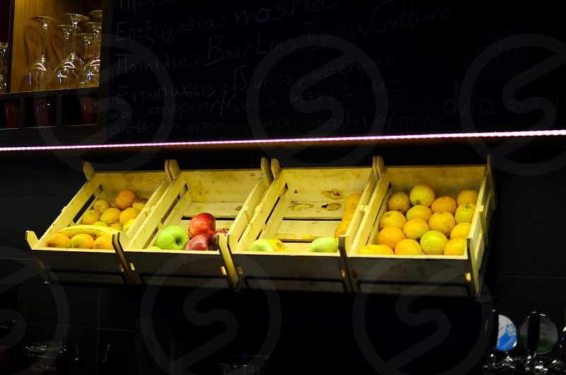 Variety of Fruits in Baskets photo