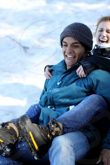 Nothing is better then sledding with your woman. photo