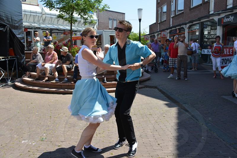 American day with dancers in Hellevoetsluis Netherlands on 21 Juli 2013  photo