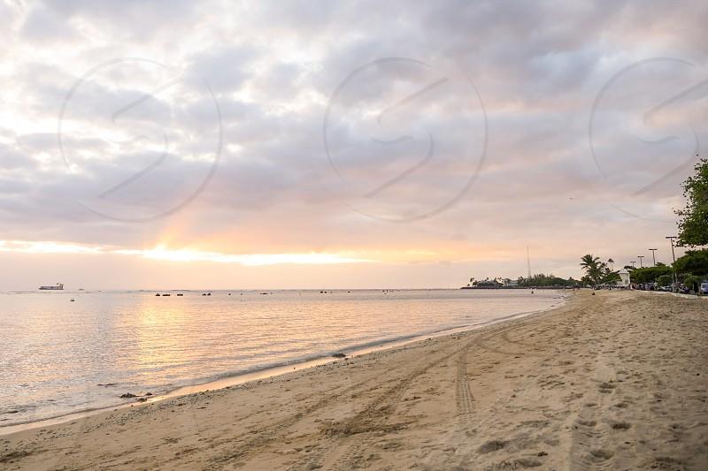 Ala Moana beach park Honolulu Hawaii Oahu island  photo