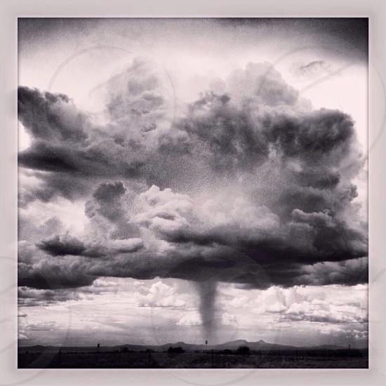 Rain cloud in the desert Arizona photo