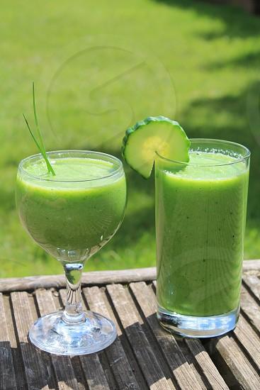 Protein energygreen shake blended healthy photo