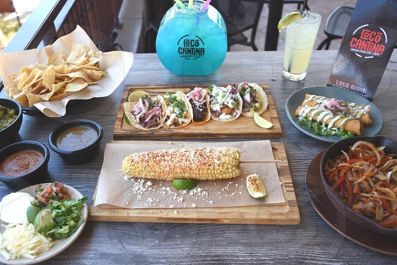 food on table photo