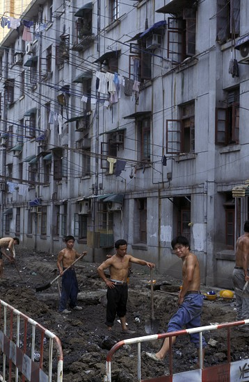 construction in the city of Shenzhen north of Hongkong in the province of Guangdong in china in east asia.  photo