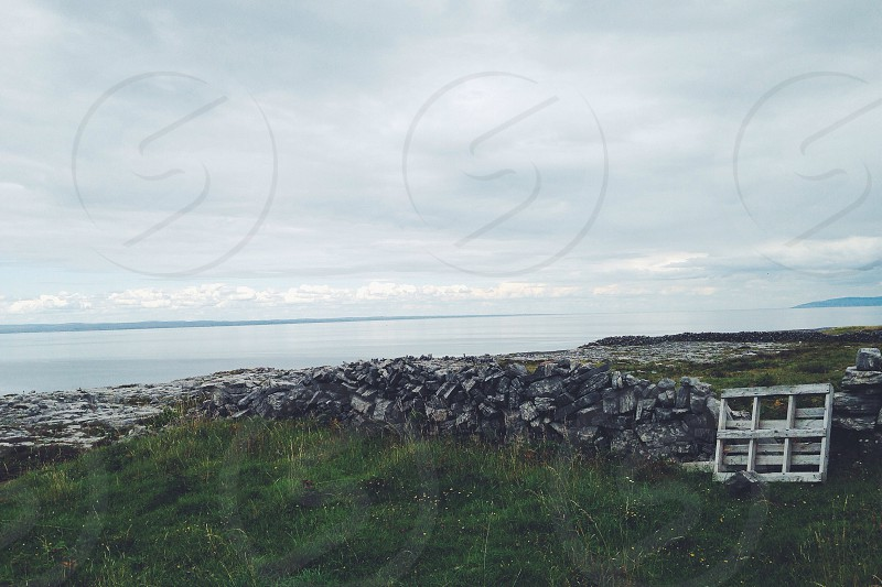 grasslands near sea photo