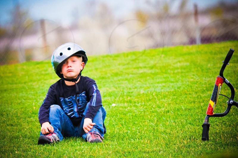 Crooked bike helmet  photo