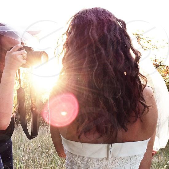 women's white strapless zip up dress photo