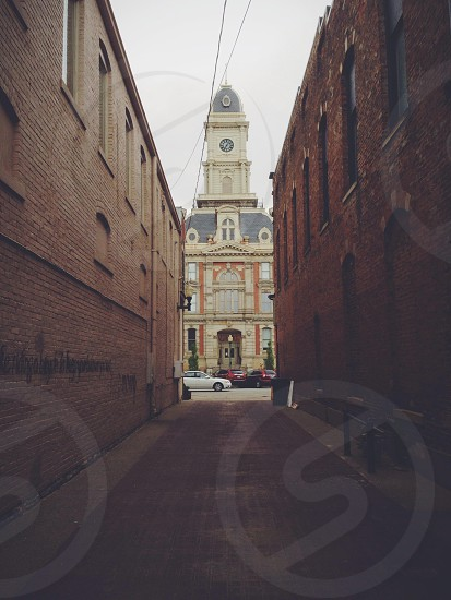 Courthouse in Noblesville IN from an alley.  photo
