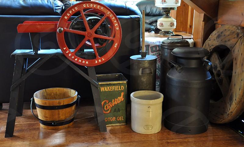 brown wooden bucket photo