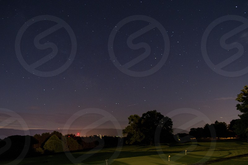 beautiful Conn. golf course at night with stars  photo