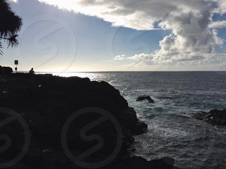 Sunset on the cliffs.  photo