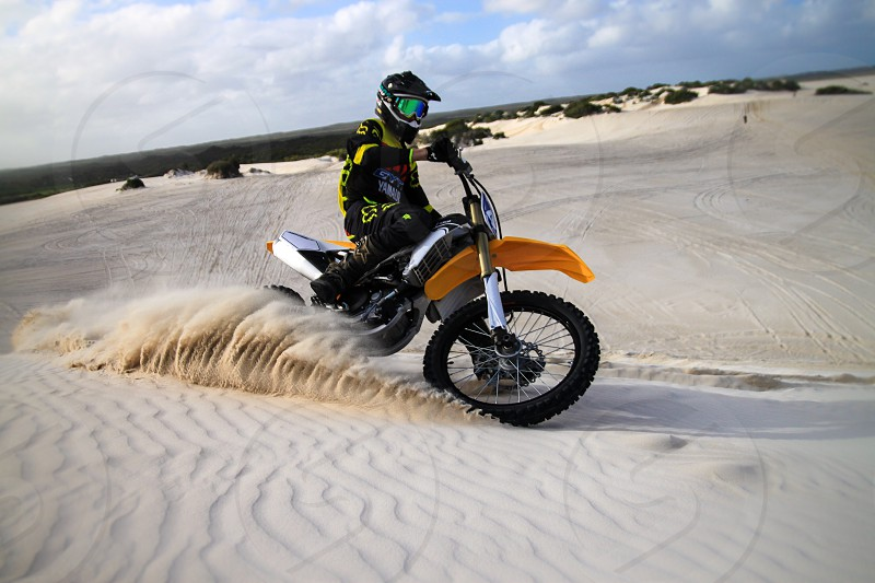 Motorbike; Biking; Sand; Dunes; Lancelin; Australia; Sport; Hobby; Passion; Bike photo