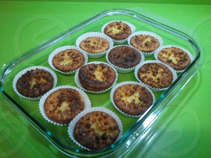 Freshly cooked cakes photo