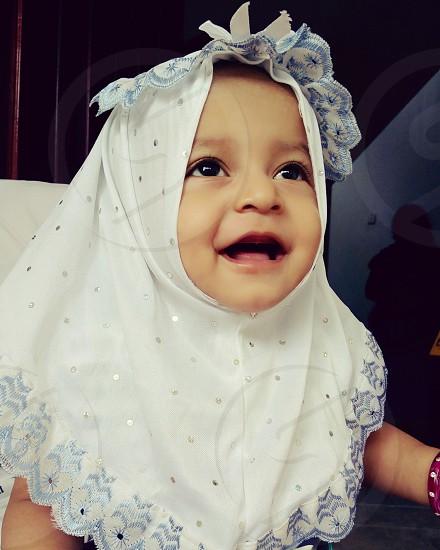 Happy with hijab photo