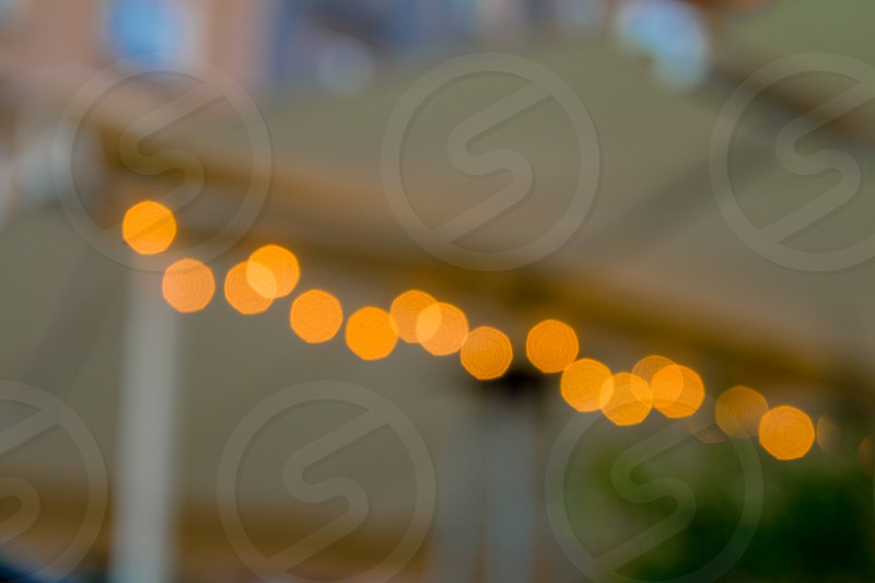 Abstract Bokeh color light of line. photo