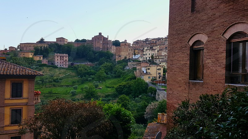 A beautiful view in Siena Italy photo