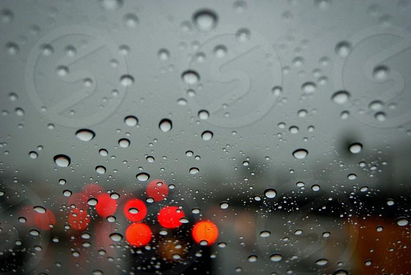 Raindrops on the windshield  photo