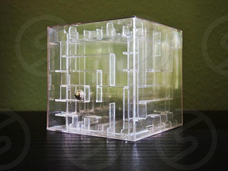 transparent plastic cube maze photo
