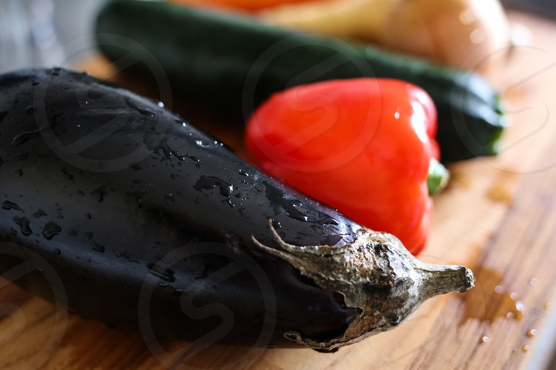 Spices and ingredients cooking vegetables vegetable Aubergine paprika dish kitchen photo