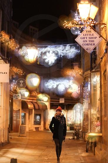 Christmas Lights in Cambridge UK photo