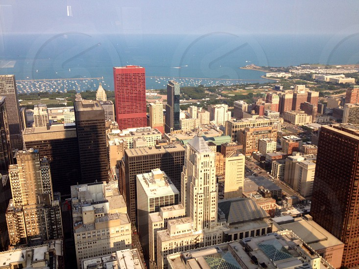 Looking west from the 67th floor in Chicago IL.  photo