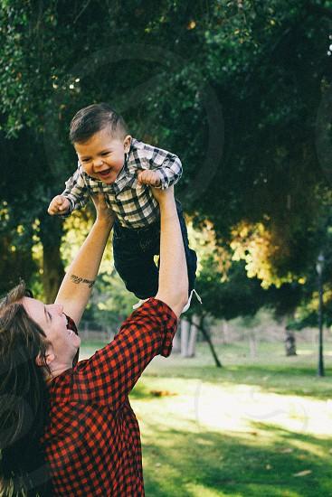 Mom and Son having fun photo