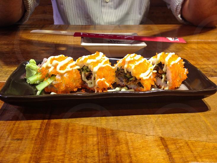 A colorful sushi food  photo