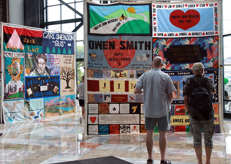 world pride quilt quilt initiative 2019 2019 WorldPride Quilt Initiative pride day gay lesbian lesbian couples gay men Brookfield Place NYC photo
