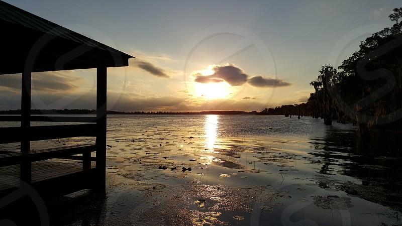 gazebo sunset lake lake nona orlando life photo