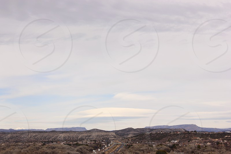 Beautiful clouds and scenery in Northern Arizona photo