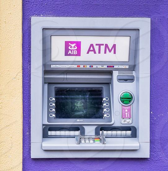 An ATM machine in Ireland. photo
