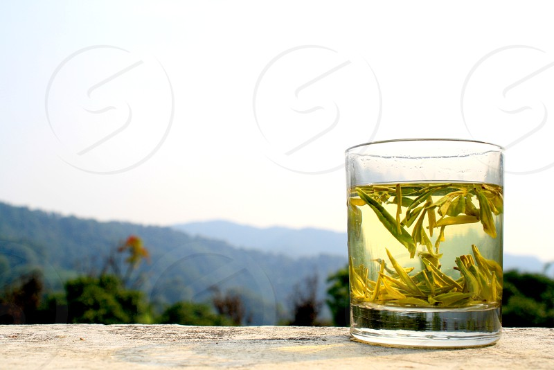 Tea dragonwell hangzhou China photo